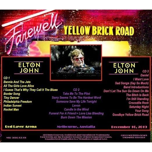 elton john LIVE FAREWELL IN MELBOURNE, AUSTRALIA 2019 DECEMBER 10, LTD 3 CD