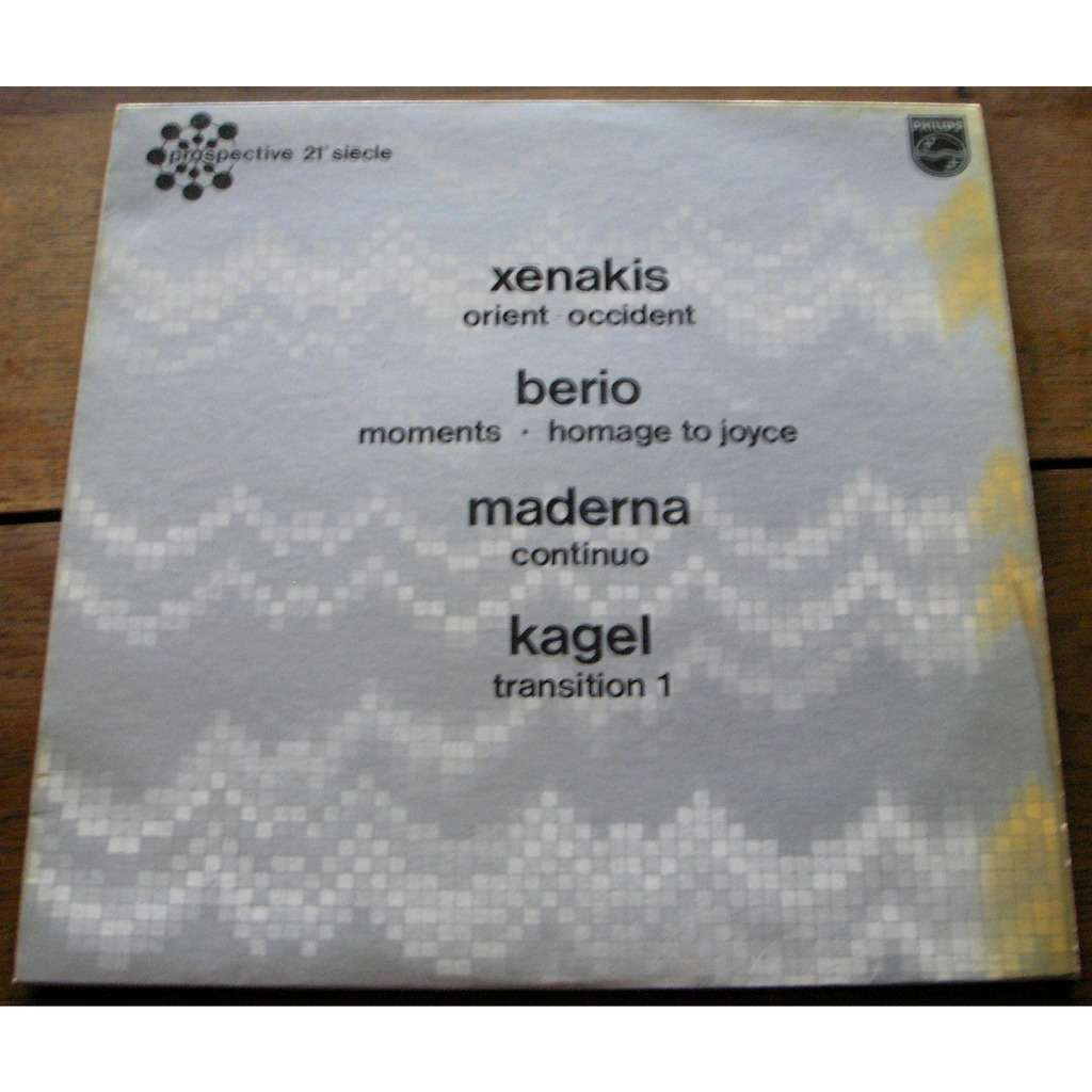 xenakis - berio - maderna - kagel Orient-Occident / Moments ▪ Homage To Joyce / Continuo / Transition 1