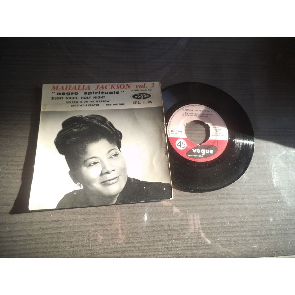 mahalia jackson silent night, holy night / his eyes is on the sparrow / the lord's preyer / he's the one