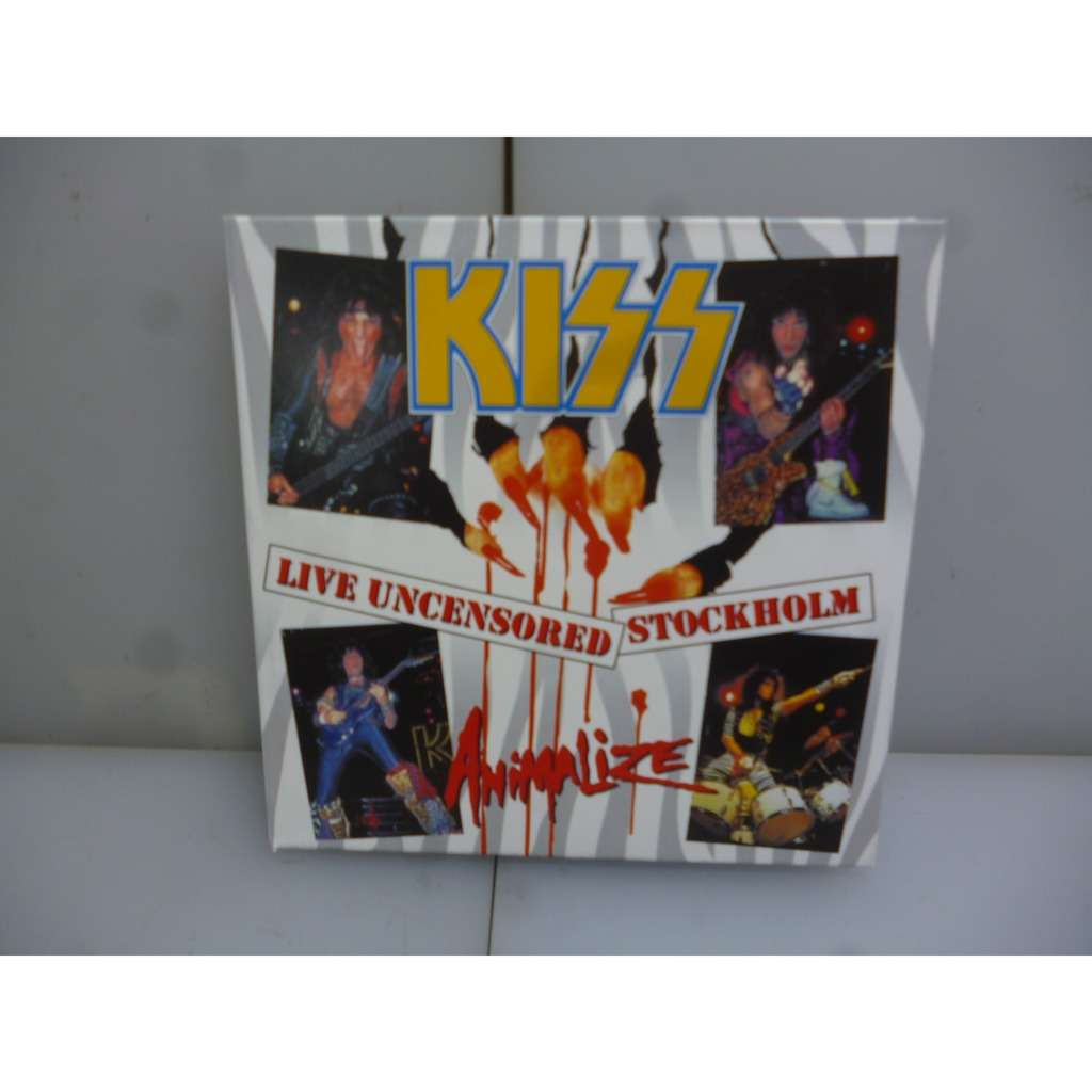 Kiss Live Uncensored Stockholm. Animalize Tour 1984. Stockholm, Sweden 1984. EU 2019 2CD Digipack.