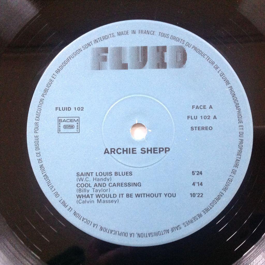 Archie Shepp Joe Lee Wilson C. Jarvis C. Brown Archie Shepp Featuring Joe Lee Wilson - A Touch Of The Blues