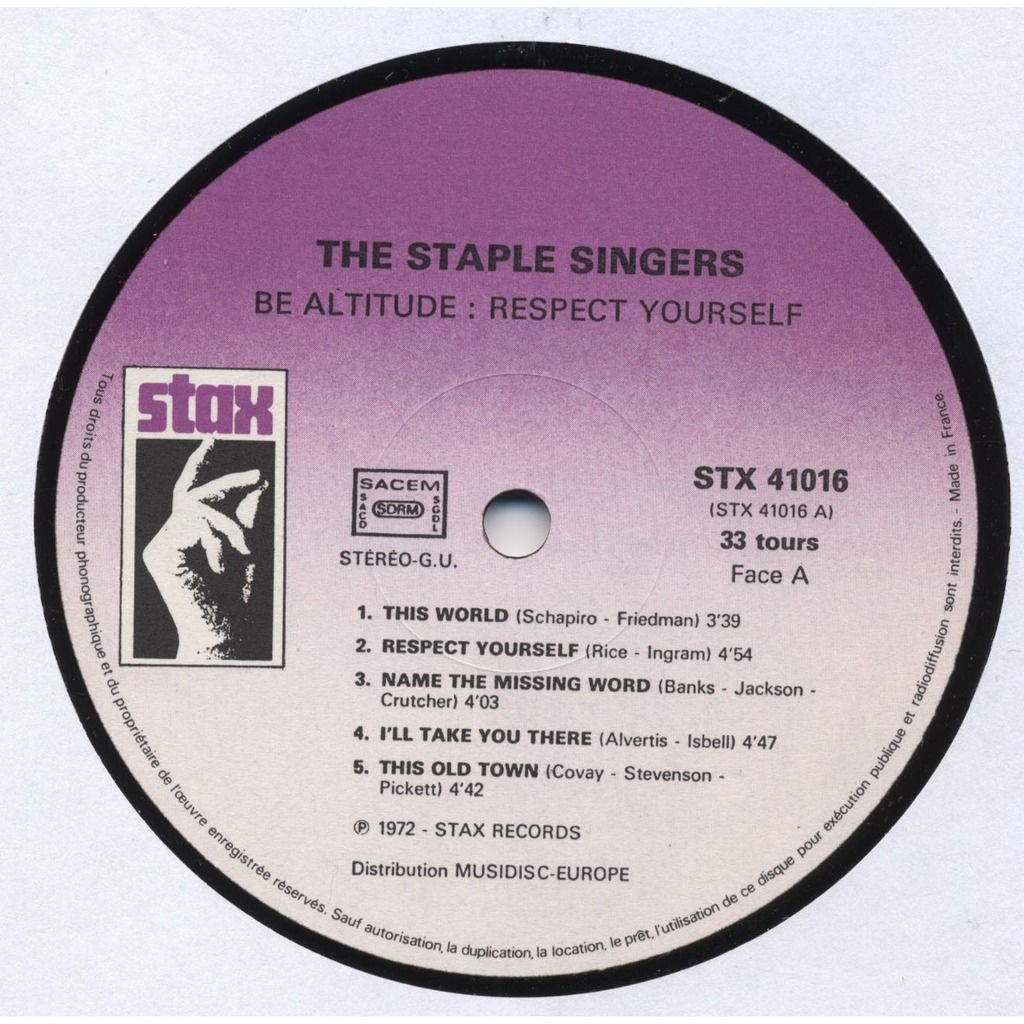 THE STAPLE SINGERS Be Altitude (RE France)