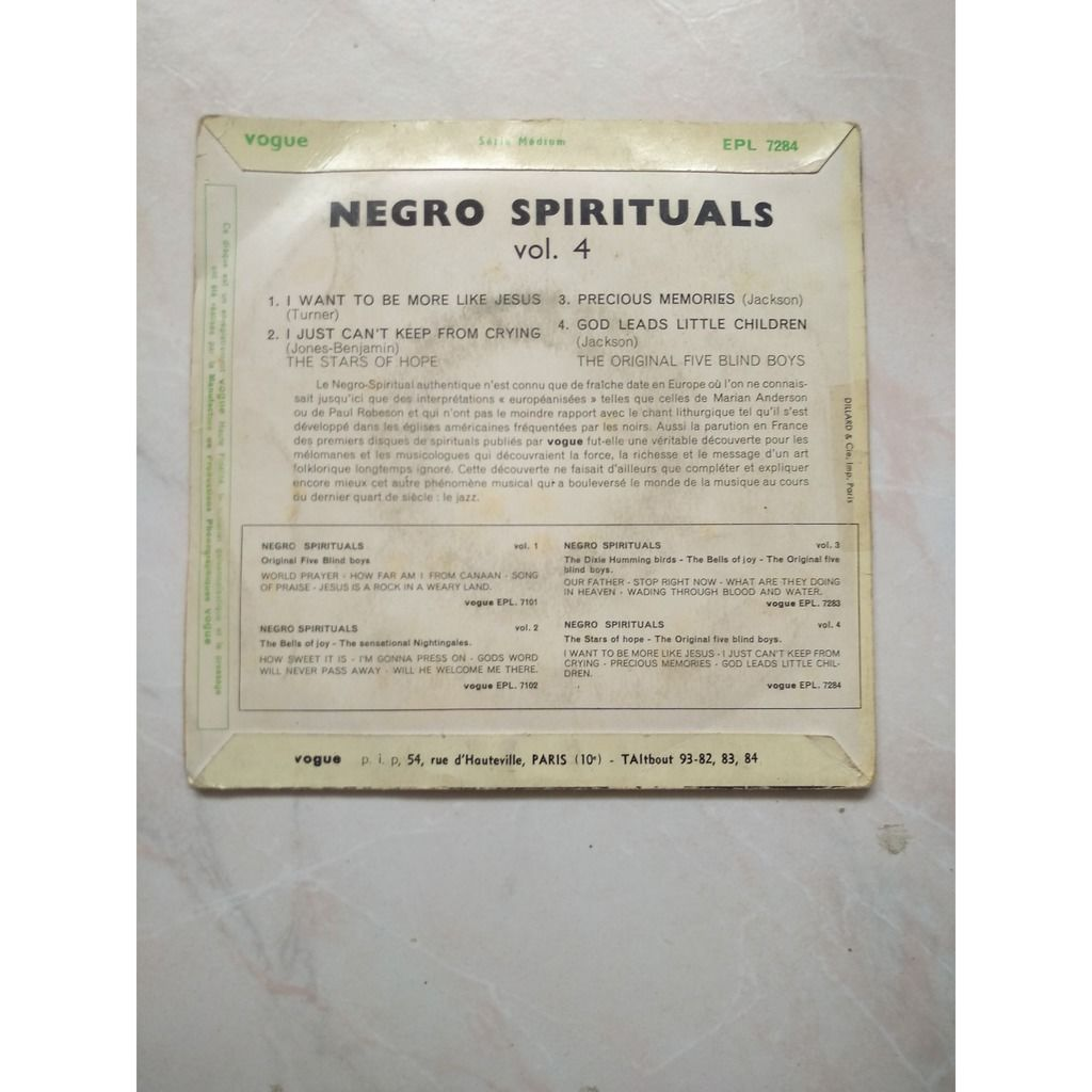 negro spirituals i want to be more like jesus vol 4