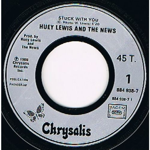 LEWIS HUEY and the NEWS STUCK WITH YOU / DON'T EVER TELL ME THAT YOU LOVE ME