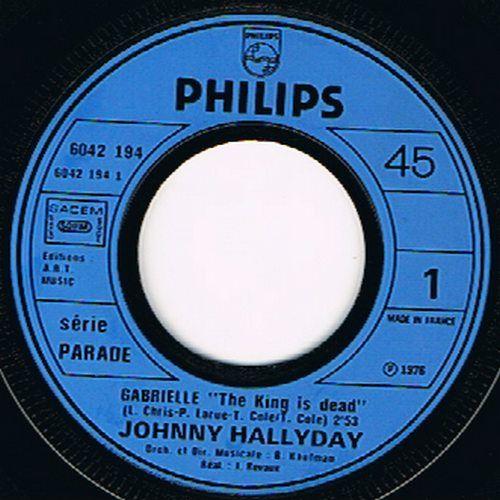 HALLYDAY JOHNNY GABRIELLE / NE PAS VIVRE SANS AMOUR ( pochette legerement gaufrée )