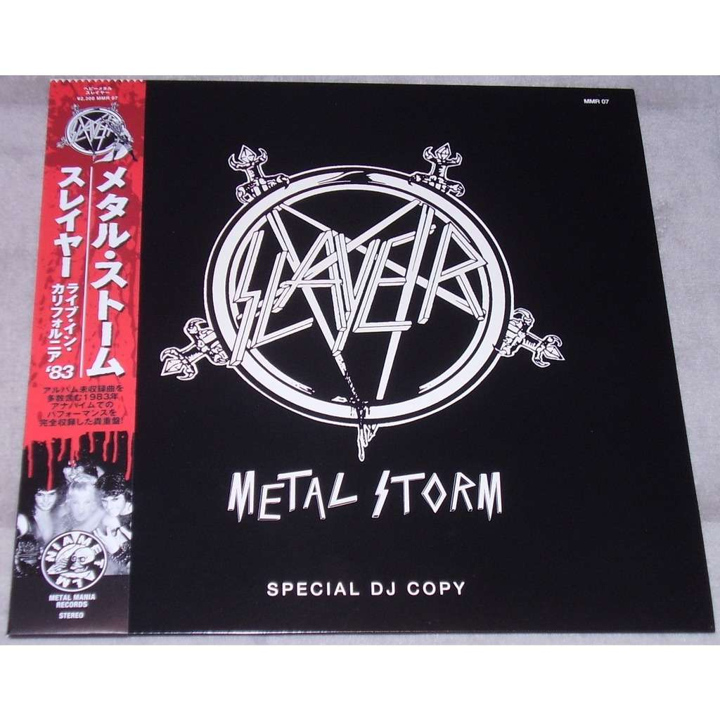Slayer Metal Storm (lp) Ltd Edit Special Dj Copy & Coloured Vinyl -Jap