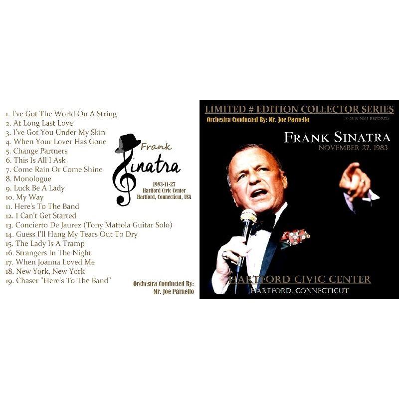 frank sinatra LIVE IN HARTFORD, CT 1983 NOVEMBER 27th LTD # CD