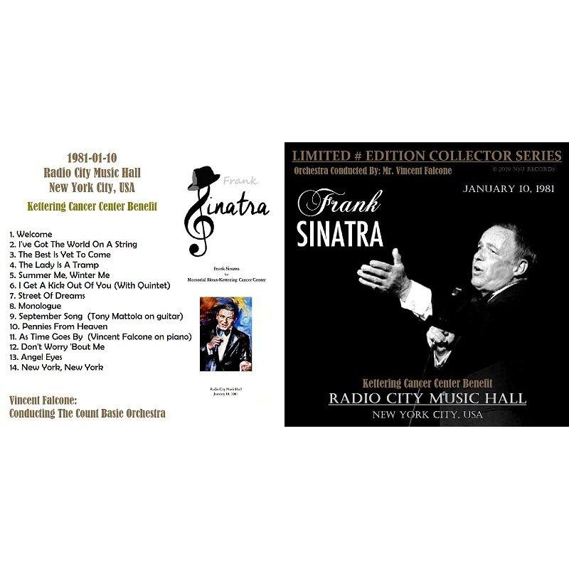 frank sinatra LIVE AT RADIO CITY MUSIC HALL, NY 1981 JANUARY 10th LTD # CD