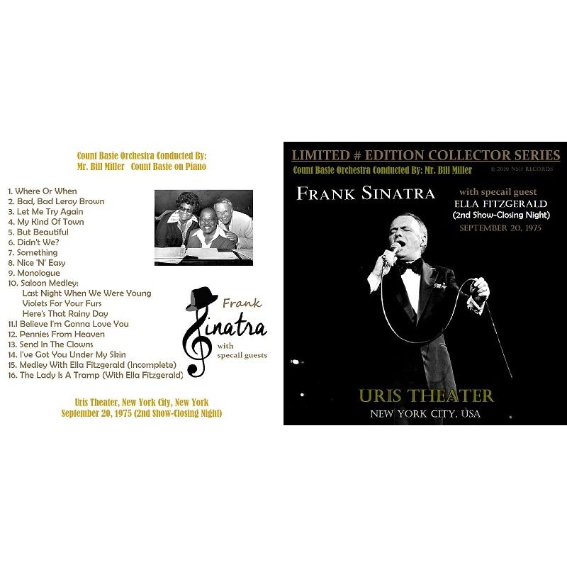 frank sinatra LIVE AT THE URIS THEATER, NEW YORK CITY SEPTEMBER 20, 1975 LTD # CD