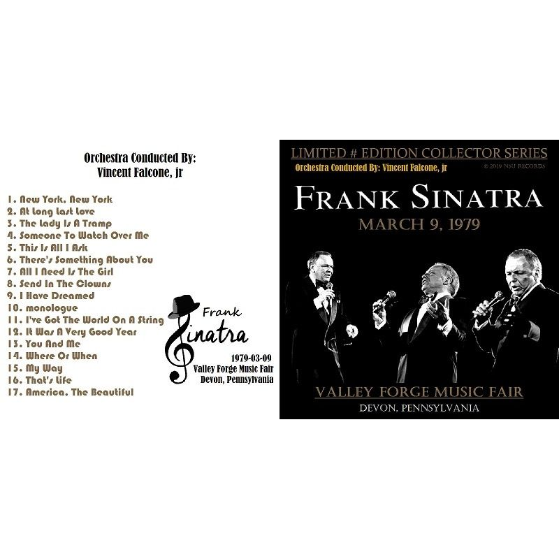 frank sinatra LIVE AT THE VALLEY FORGE MUSIC FESTIVAL 1979 MARCH 9th LTD # CD