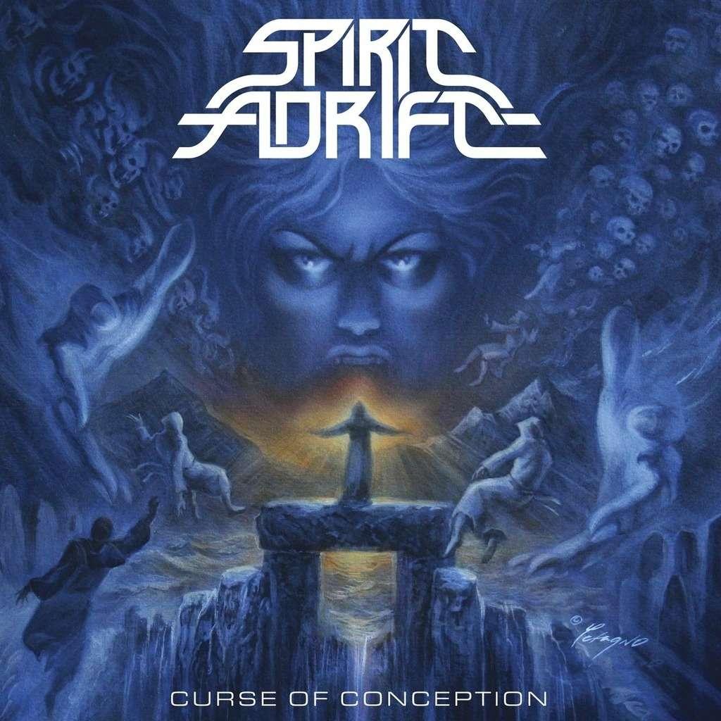 SPIRIT ADRIFT Curse of Conception. Blue Splatter Vinyl