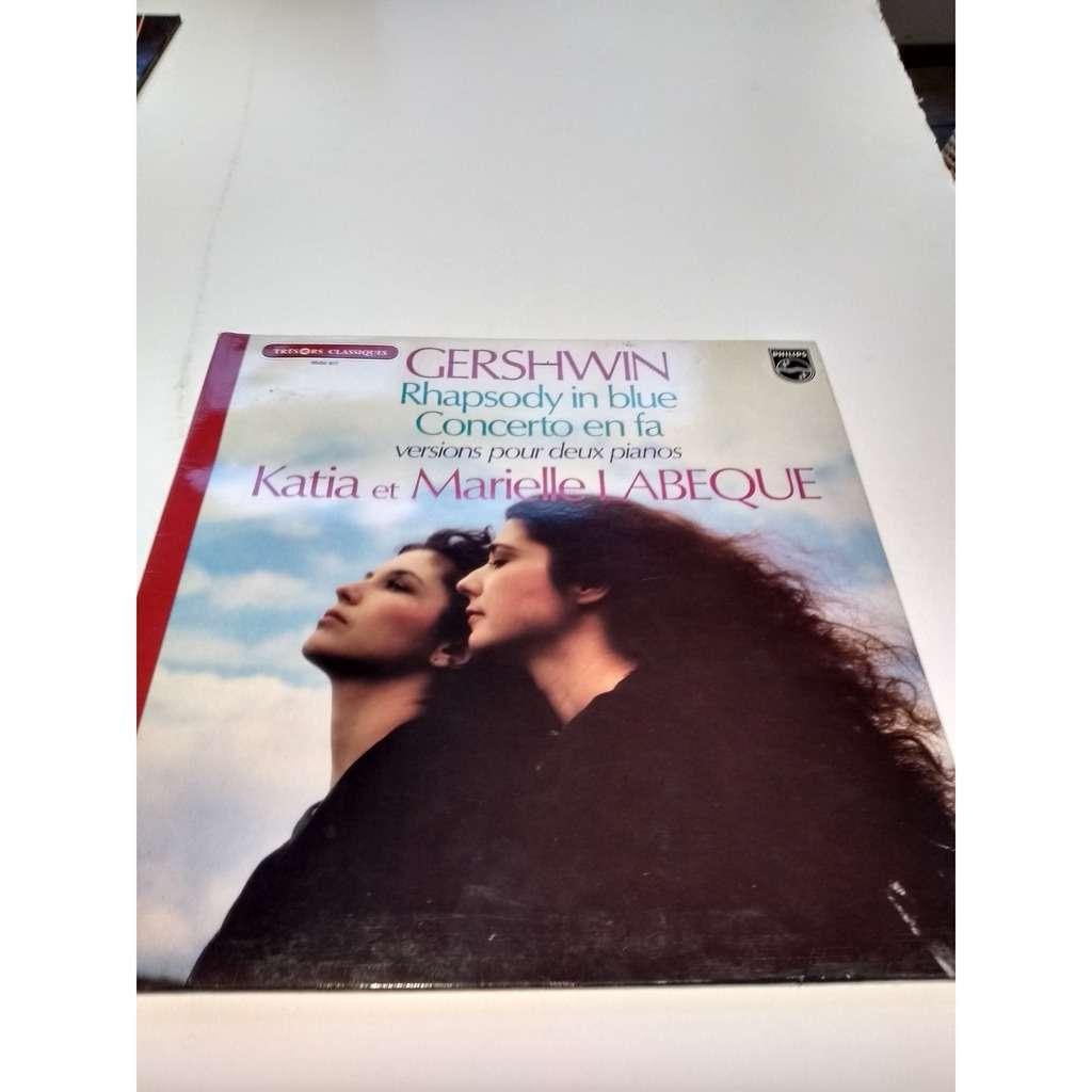 katia et marielle labeque gershwin / Rhapsody in blue concerto en fa
