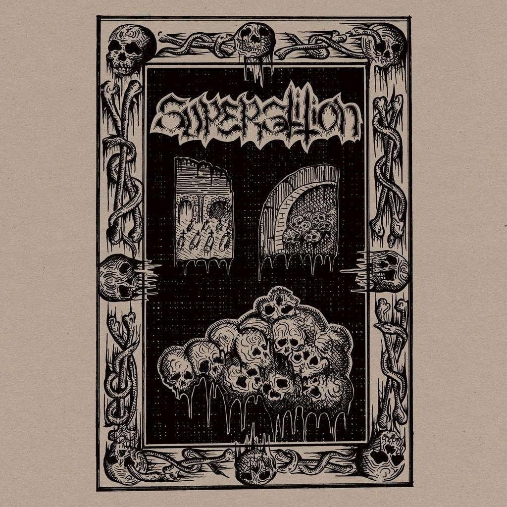 SUPERSTITION Surging Throng of Evil's Might. Black Vinyl
