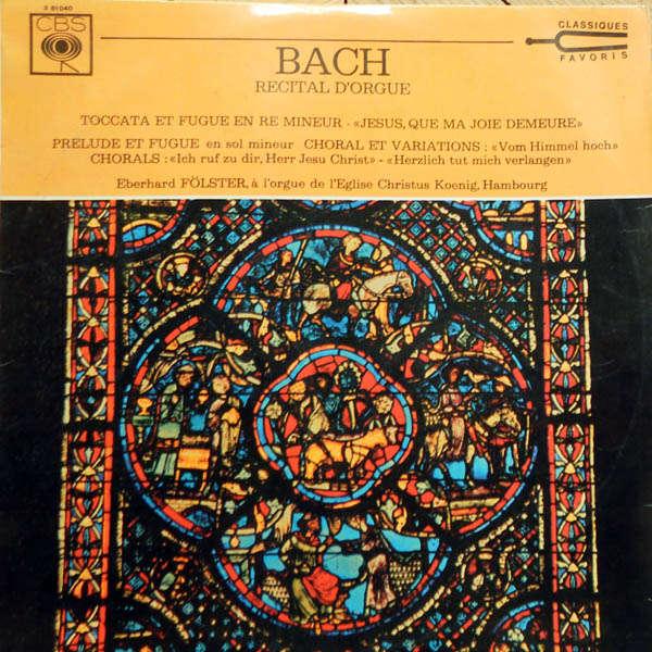Eberhard Fölster, orgue de l'Eglise Christus Koeni J.S Bach : Récital d'orgue