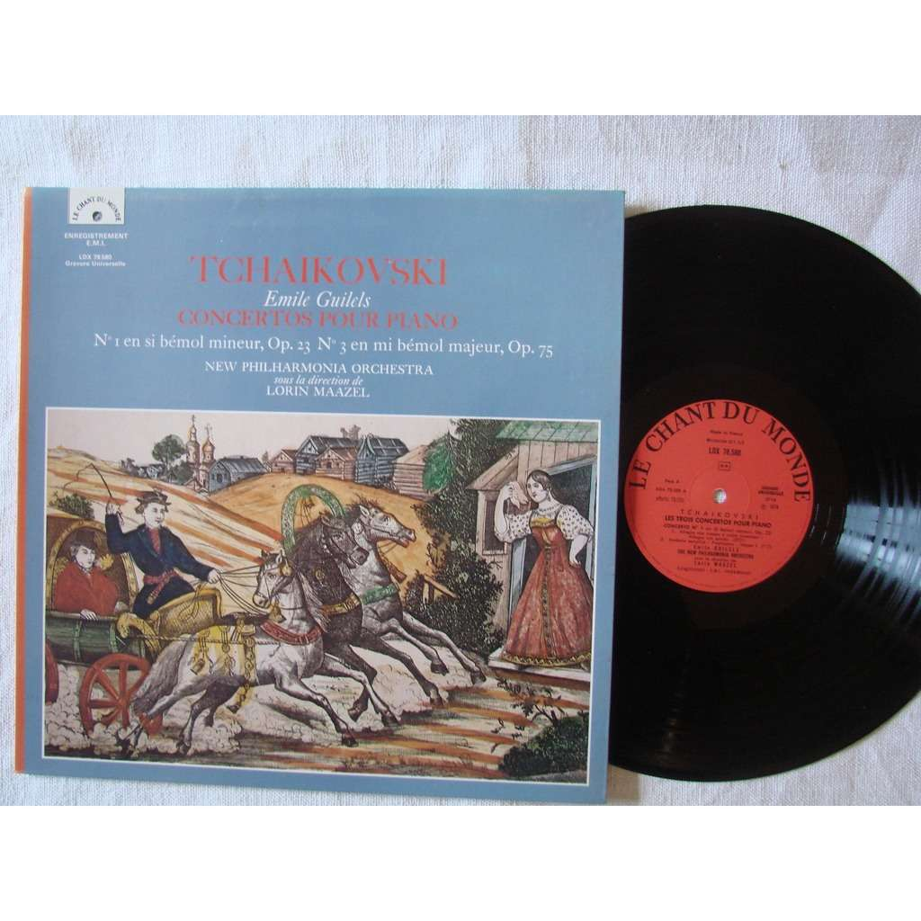 Emile Guilels, piano - L. Maazel Philharmonia Orch Tchaikovski : concertos pour piano No 1 & No 3