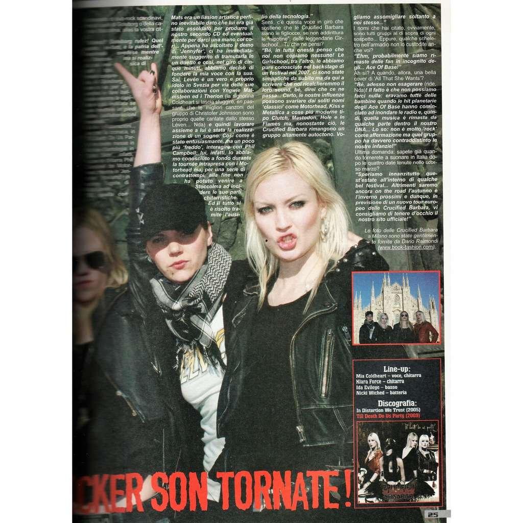 Crucified Barbara Metal maniac (N.5 May 2009) (Italian 2009 music magazine & poster!!)