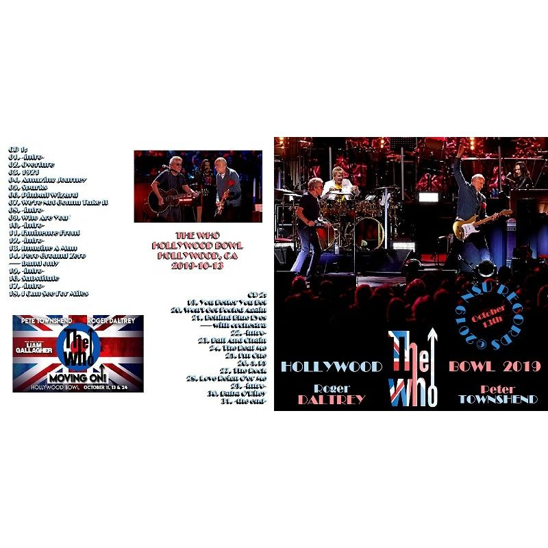 the who LIVE AT THE HOLLYWOOD BOWL 2019 OCTOBER 13 LTD 2 CD