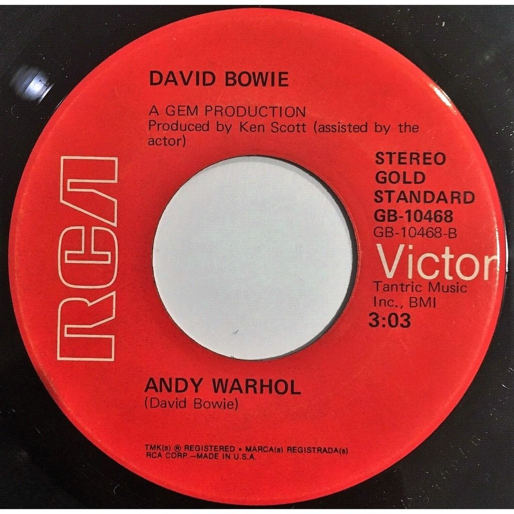 David Bowie Changes (USA 1975 'Gold Standard 1st issue' 2-trk 7single on RCA Victor Red lbl RCA slv)