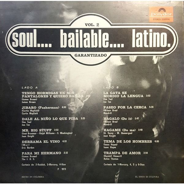 Soul.... Bailable.... Latino. Vol. 2 Soul.... Bailable.... Latino. Vol. 2