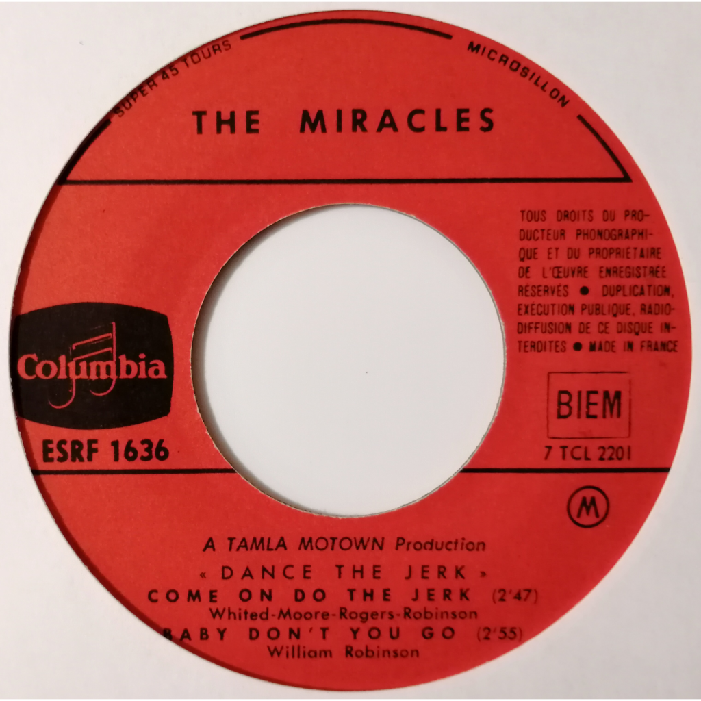 The Miracles / The Contours Dance The Jerk (soul)