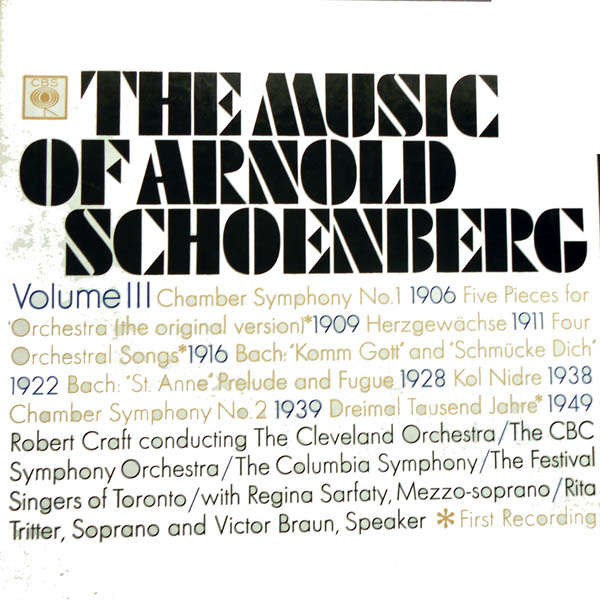 Robert Craft The music of Arnold Schœnberg