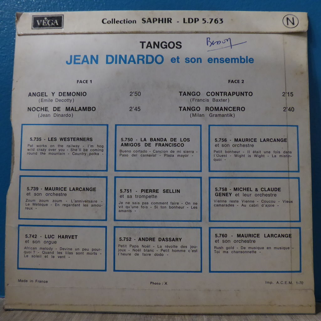 Jean Dinardo Angel y demonio + Noche de malambo + Tango contrapunto + Tango romancero
