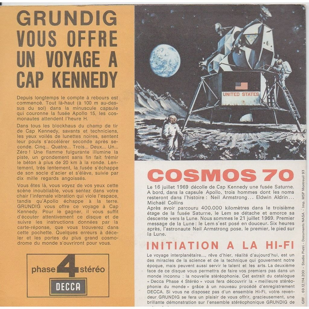 APOLLO 11 COSMOS 70 . BERNSTEIN . VERDI THE MAGNIFICENT SEVEN - RIGOLETTO - PREMIERS PAS DE L'HOMME SUR LA LUNE VOL APOLLO 11 ( CONCOURS )