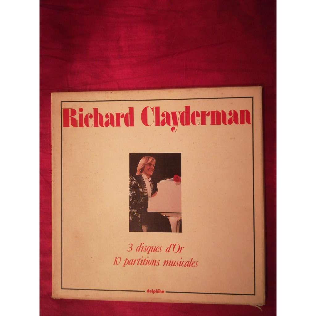 RICHARD CLAYDERMAN 3 DISQUES D' OR.10 PARTITIONS MUSICALES.France