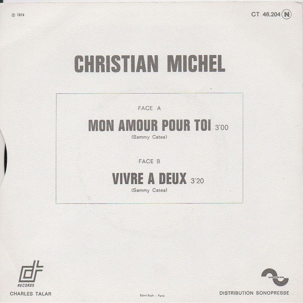 MICHEL CHRISTIAN MON AMOUR POUR TOI/VIVRE À DEUX