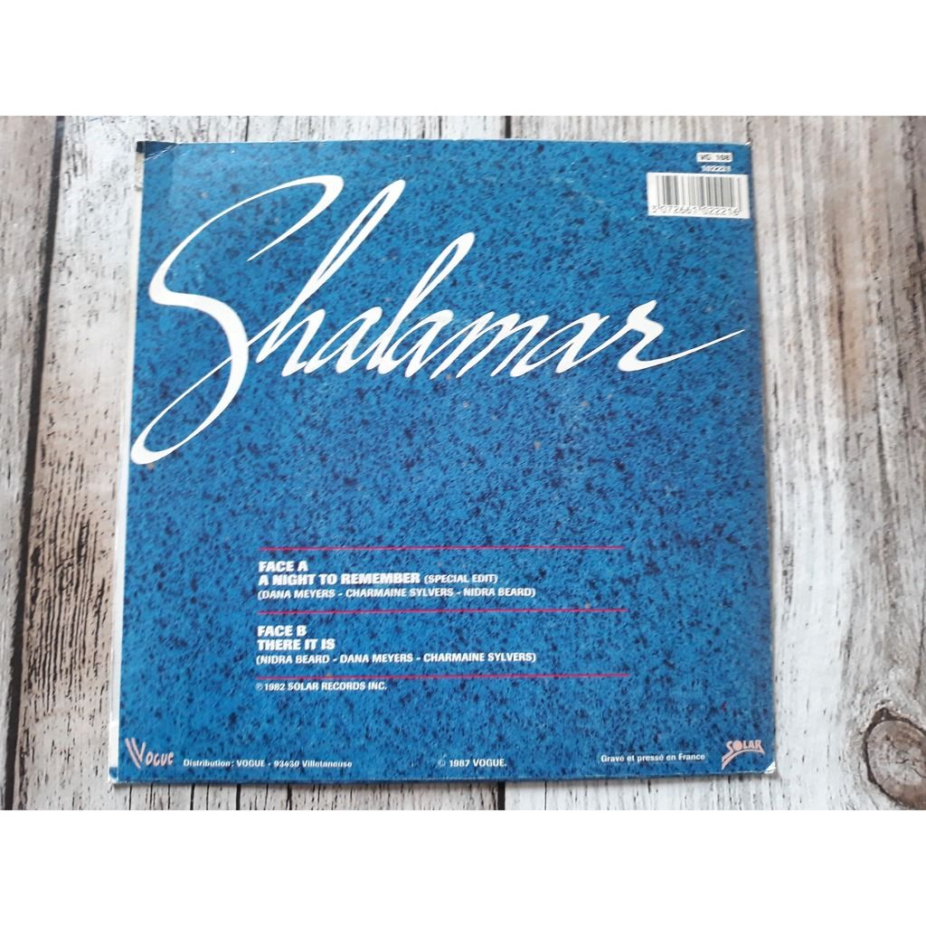 Shalamar - A Night To Remember (Special Edit) / Th Shalamar - A Night To Remember (Special Edit) / There It Is (7)