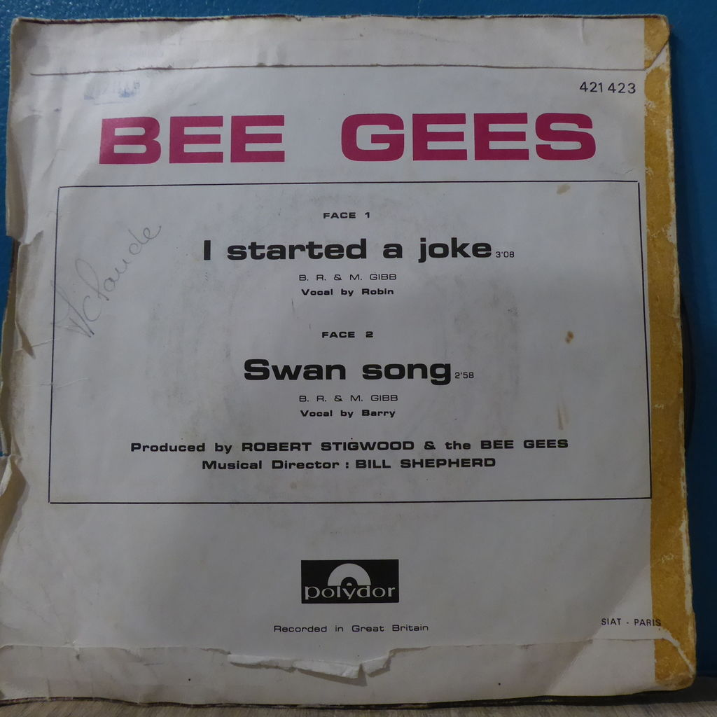 bee gees I started a joke + Swan song