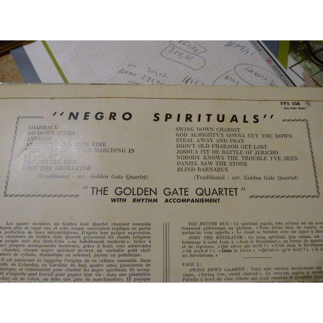 THE GOLDEN GATE QUARTET Negro Spirituals par The Golden Gate Quartet