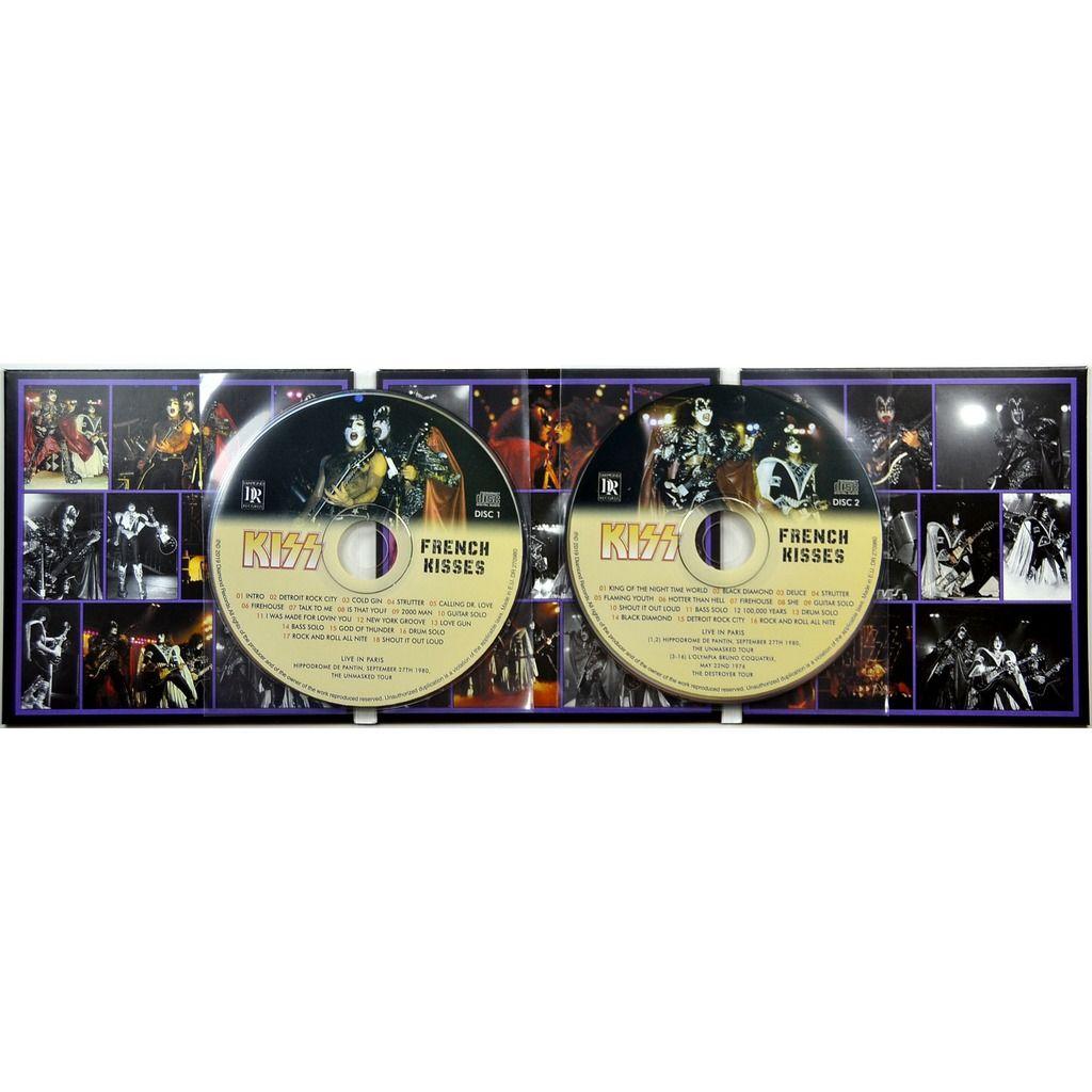 kiss French Kisses Live In Paris France 27 September 1980 Unmasked Tour Bonus 1976 2CD Digipack