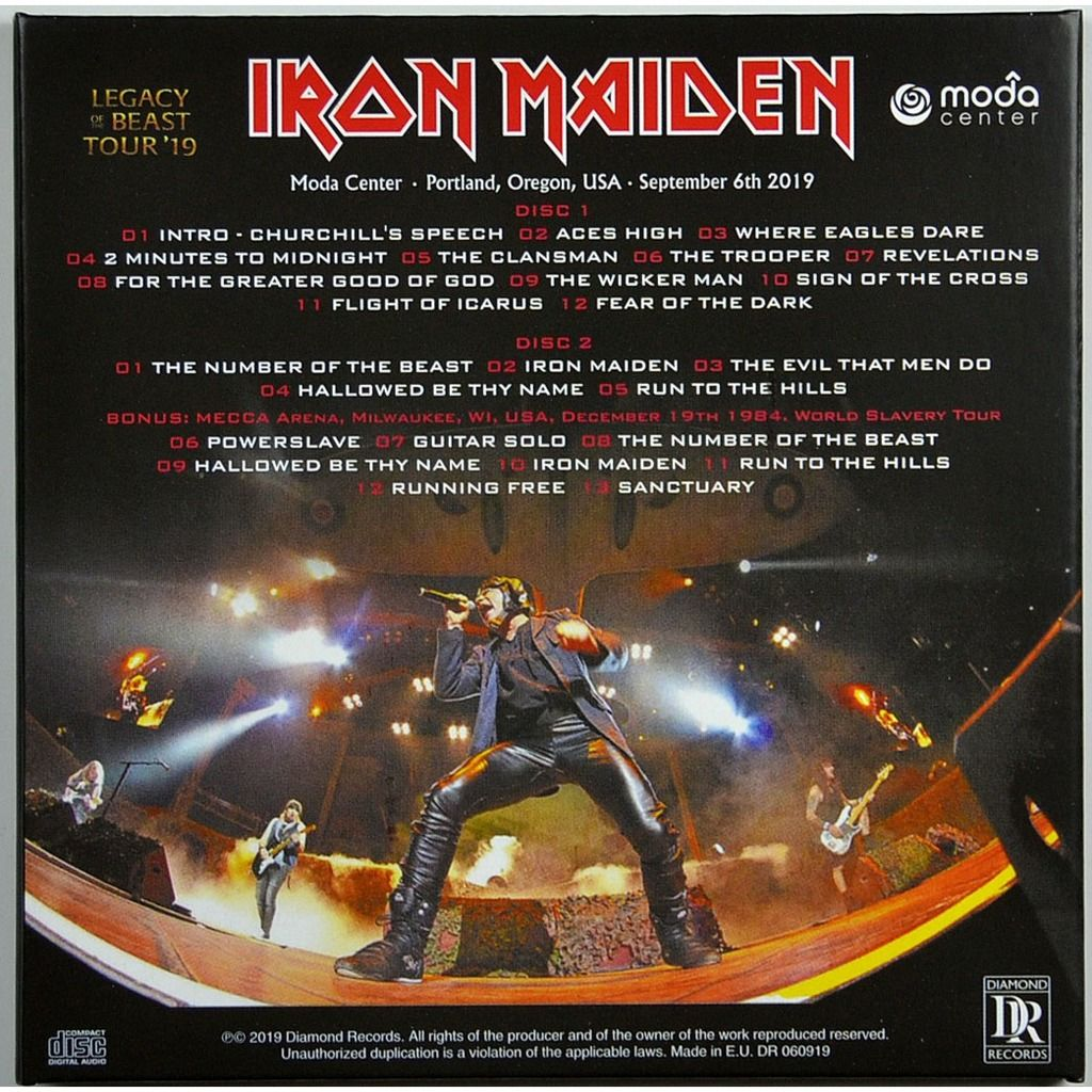 iron maiden Live In Portland USA 6 September 2019 Legacy Of The Beast Tour Bonus 1984 2CD Digipack