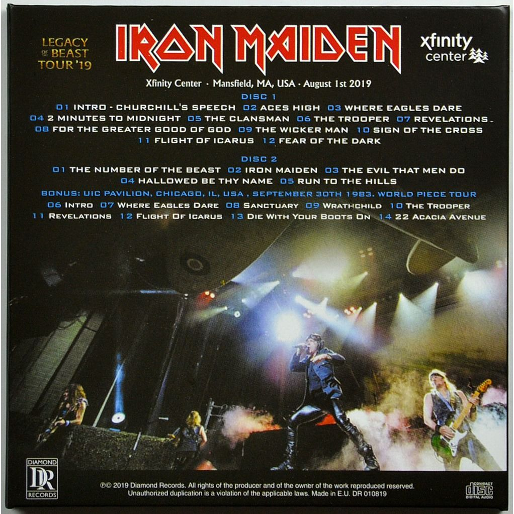 iron maiden Live In Mansfield USA 1 August 2019 Legacy Of The Beast Tour Bonus 1983 2CD Digipack