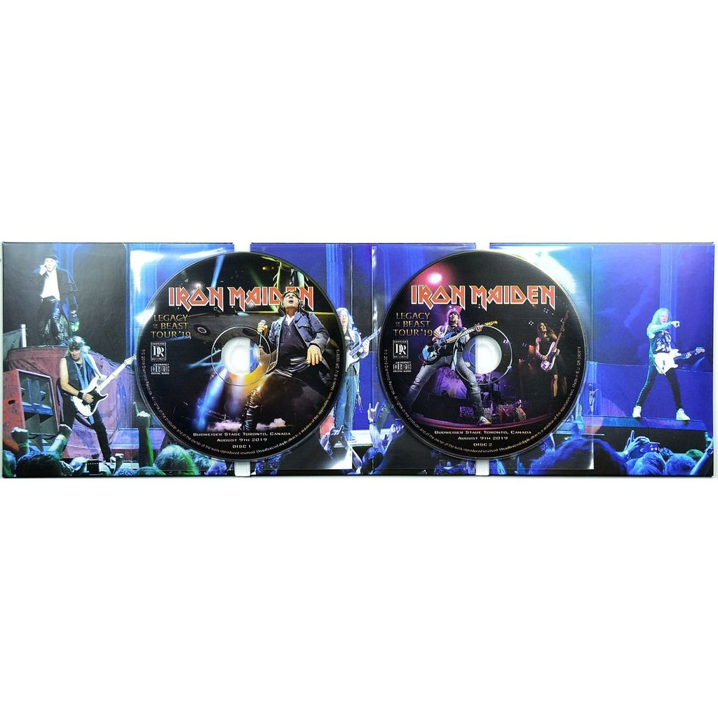iron maiden Live In Toronto Canada 9 August 2019 Legacy Of The Beast Tour Bonus 2008 2CD Digipack