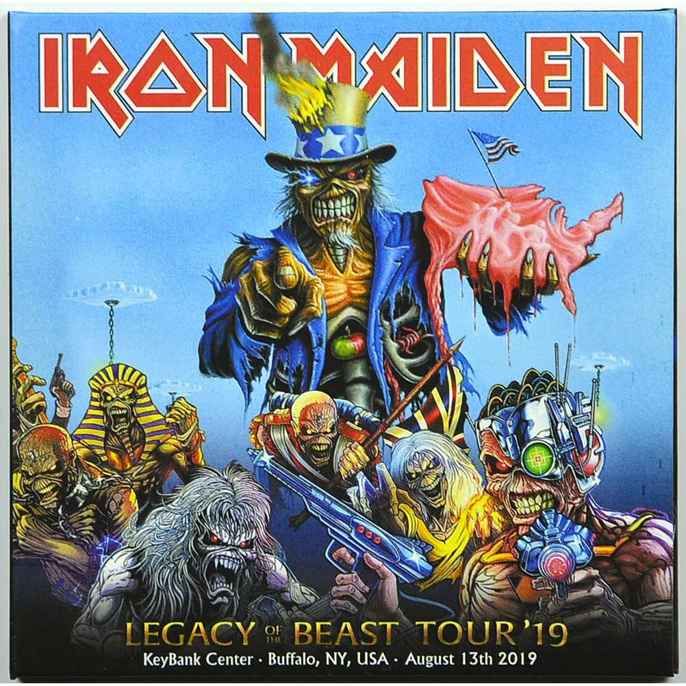 iron maiden Live In Buffalo USA 13 August 2019 Legacy Of The Beast Tour Bonus 1988 2CD Digipack