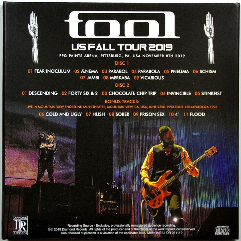 tool Live In Pittsburg USA 2019 US Fall Tour 2CD