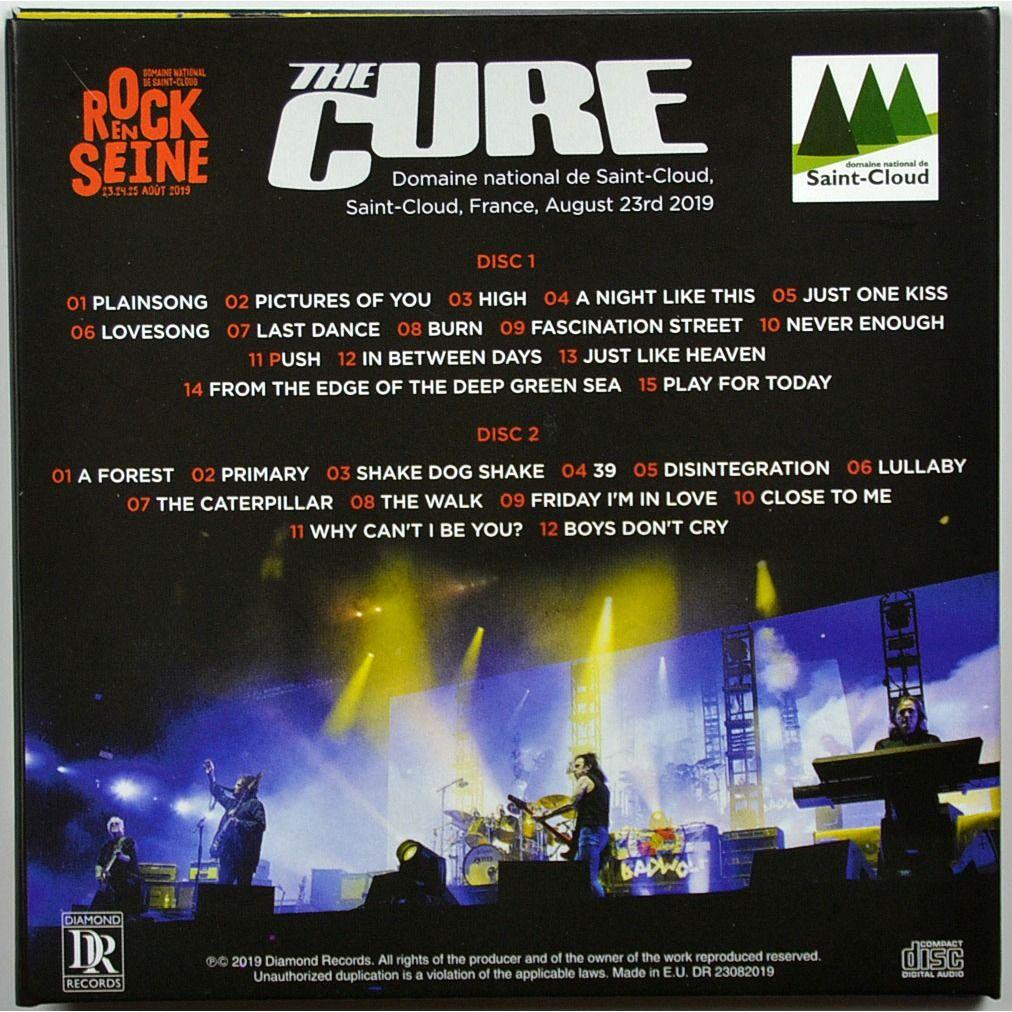 cure Live at Rock en Seine Festival Paris France 23 August 2019 Summer Festivals Tour 2CD Digipack