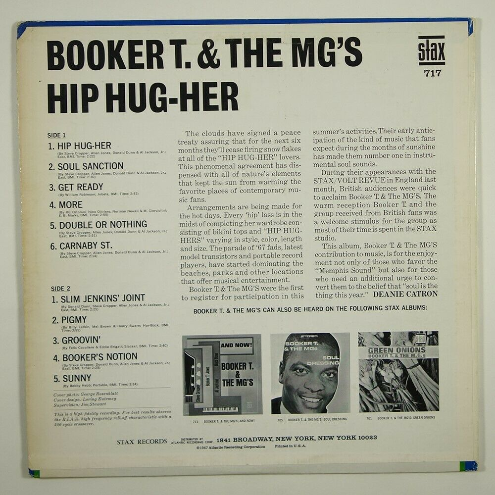 Booker T. & The MG's Hip Hug-Her (soul/funk)