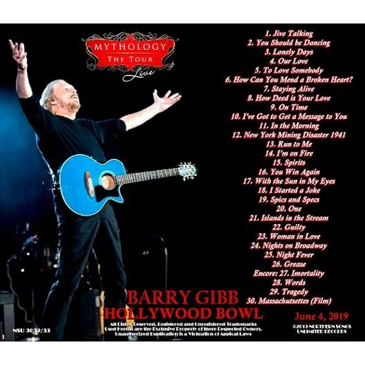 Barry Gibb Live at the Hollywood Bowl 2014 June 4th, LTD 2 CD