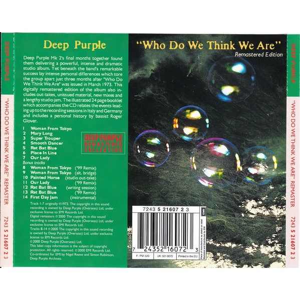 Deep Purple Who Do We Think We Are