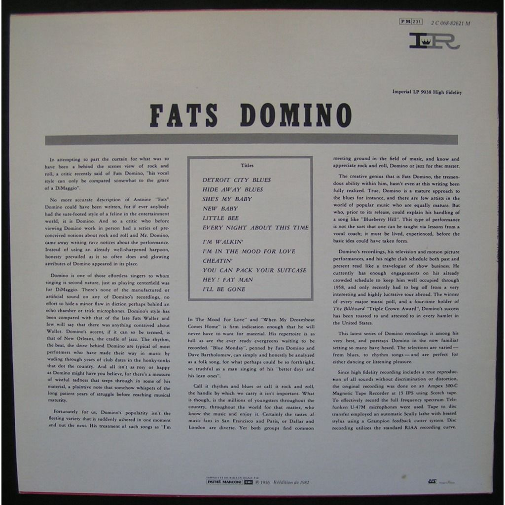 fats domino here stands fats domino