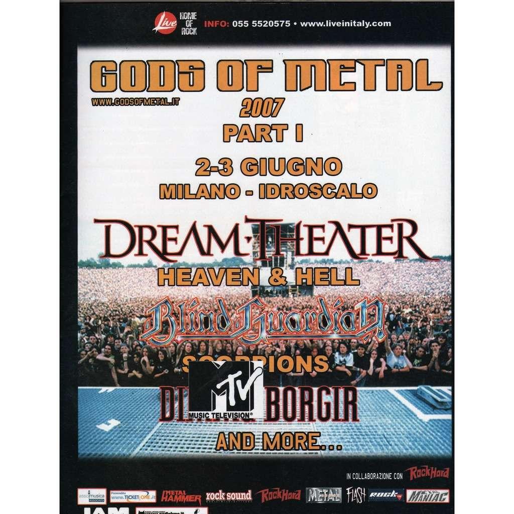 Dream Theater / Blind Guardian / Scorpions Milano Idroscalo 02/03.06.2007 (Italian 2007 promo type advert concert poster flyer!)