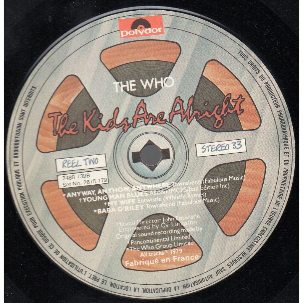 WHO (THE) THE KIDS ARE ALRIGHT ....... DOUBLE LP 33T. + SUPERBE LIVRET 20 PAGES