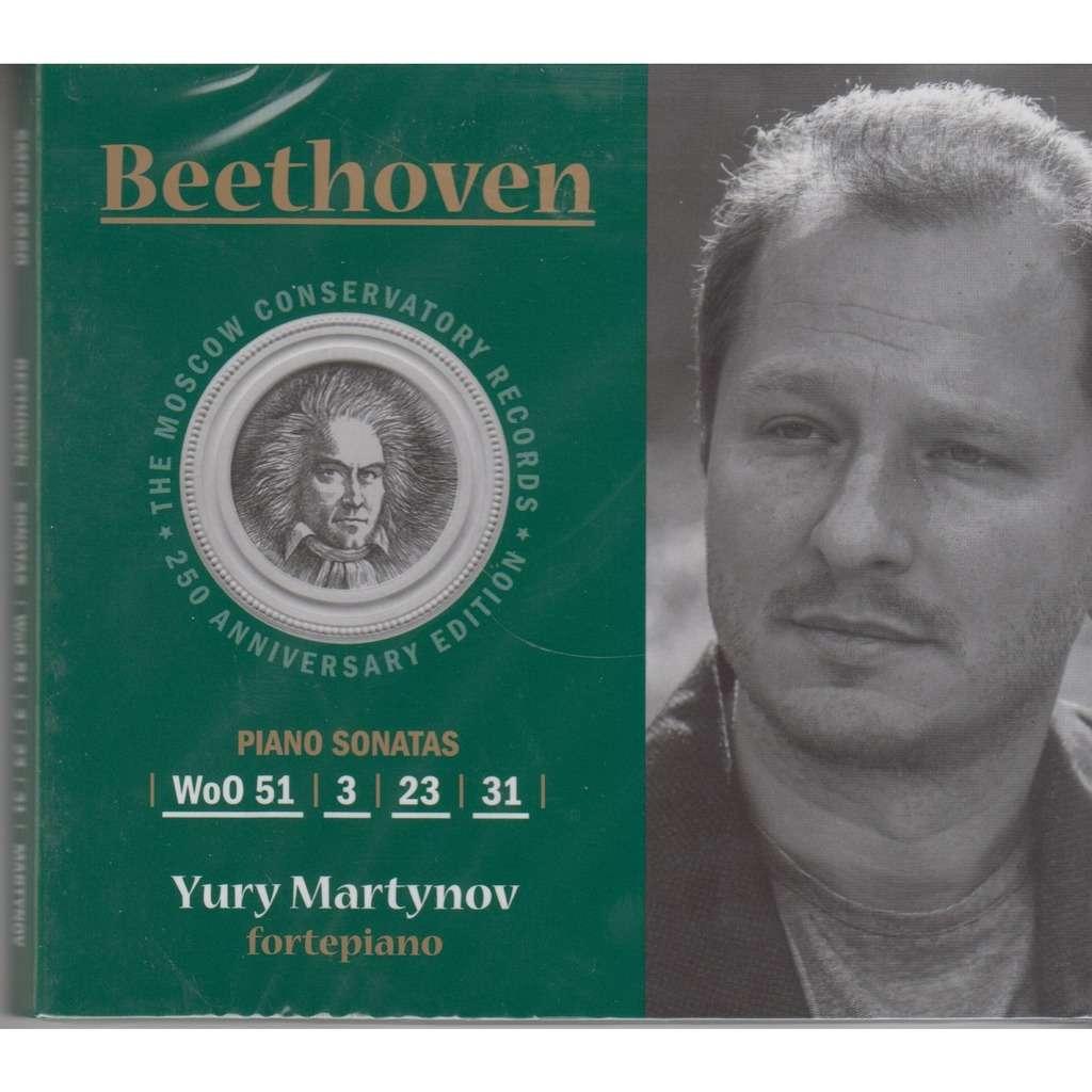 YURI MARTYNOV Beethoven Sonatas WoO 51, 3, 23, 31 CD RUS NEW