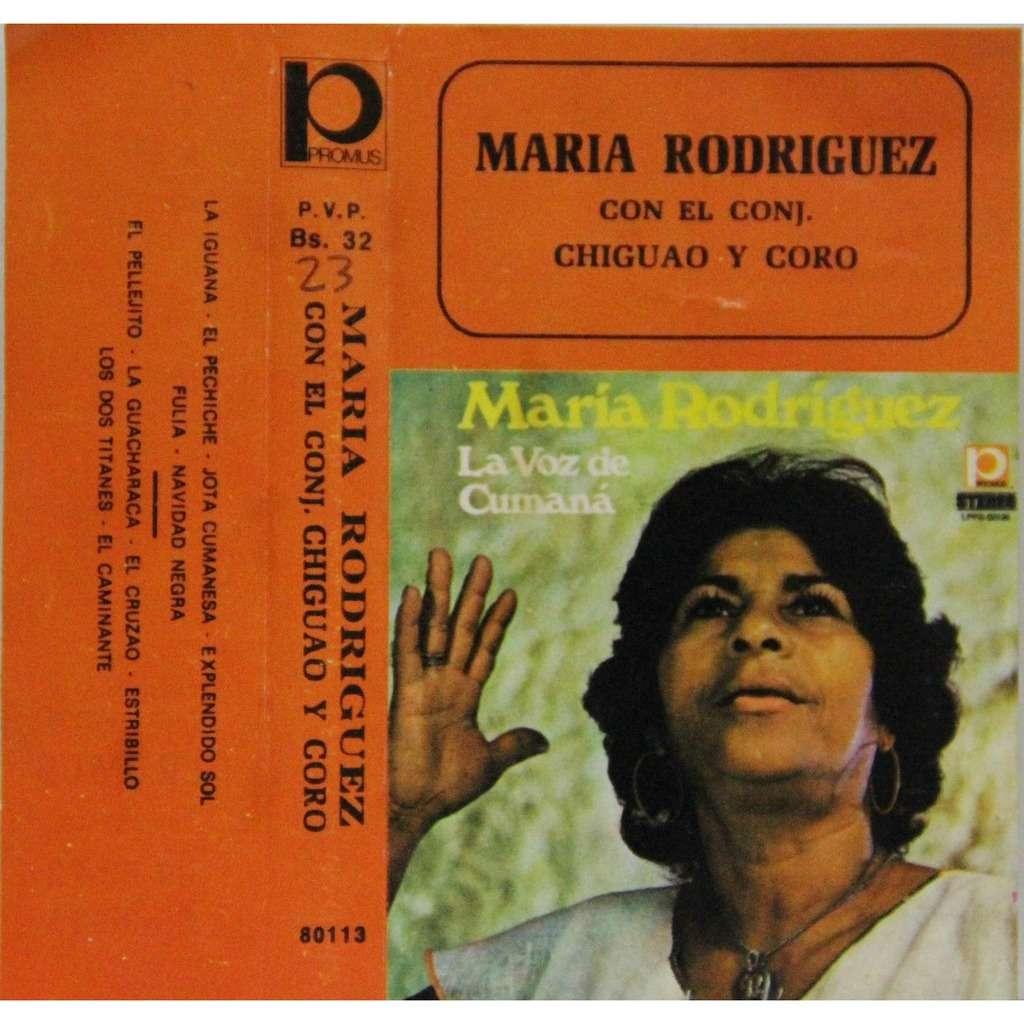 Maria Rodriguez Con el conjunto Chiguao y coro