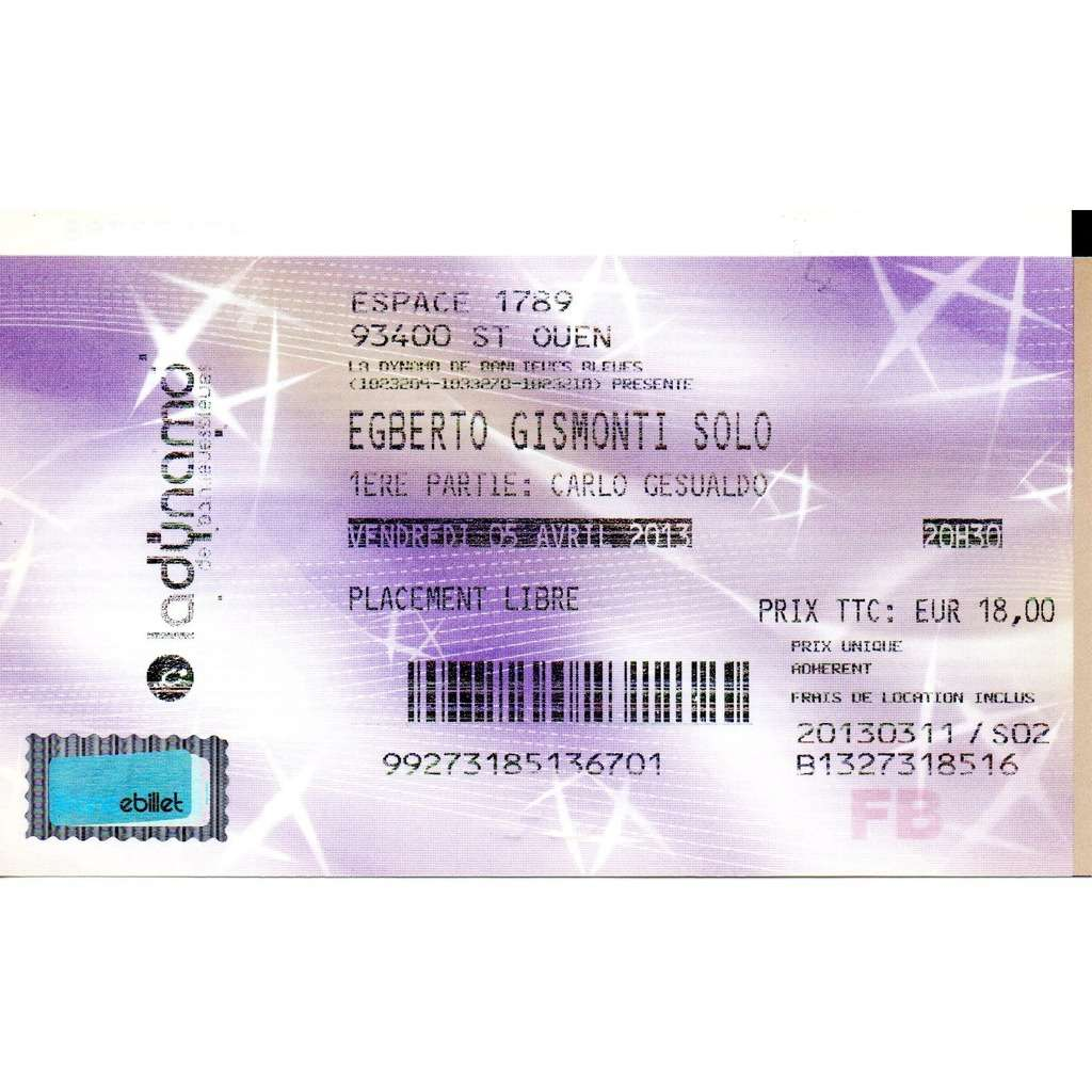 egberto gismonti, noël akchoté billet concert festival banlieues bleues 05/04/2013
