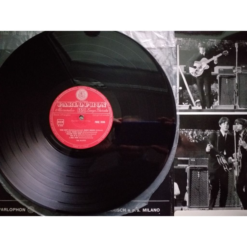 the beatles in italy - 1st red parlophon