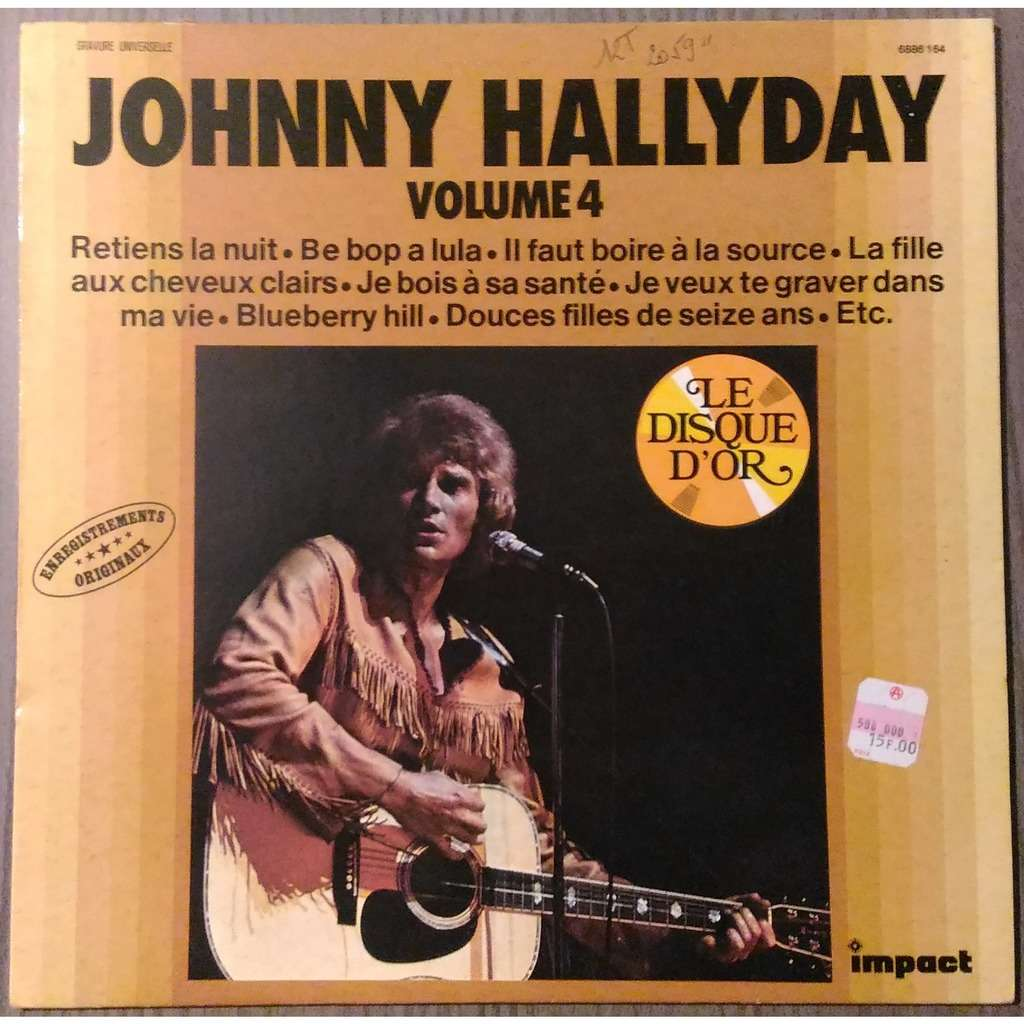 JOHNNY HALLYDAY - VOLUME 4 (FR. PRESSING 12 VINYL LP MONO-STEREO RED IMPACT LBL)